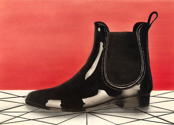 Black Bootie / Cardboard 25.3x36.3cm