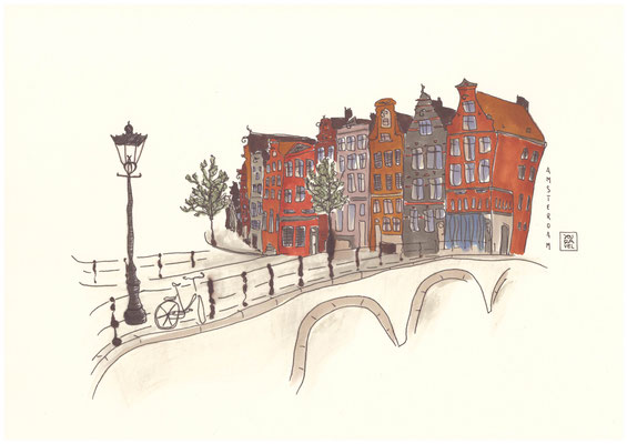 Amsterdam Illustrationn