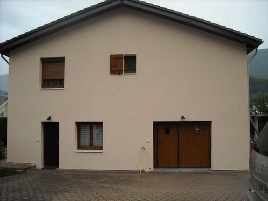 chantier d'isolation extérieure d'une maison individuelle