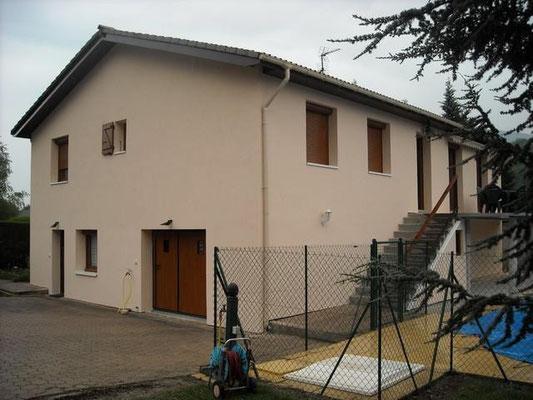 chantier d'isolation extérieure d'un logement individuel