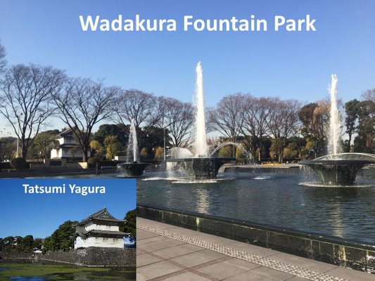This park was made in commemoration of the marriage of the Emperor today in 1961 and remodeled in commemoration of the marriage of the crown Prince in 1995. The tatsumi-yagura is one of only three remaining keeps.