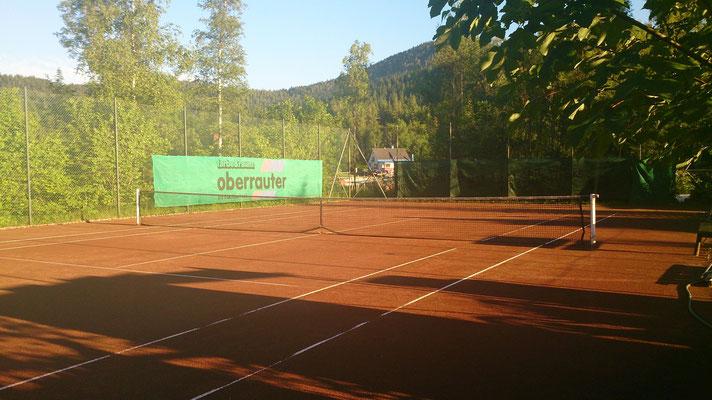 Tennisplatz mitten in der Natur