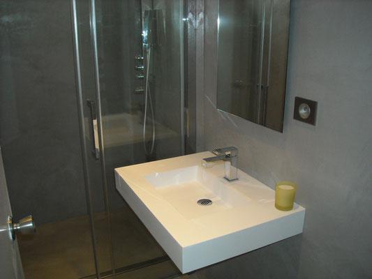 Renovation Salle de bains - Beton Cire Bordeaux, Plafonds Tendus ...