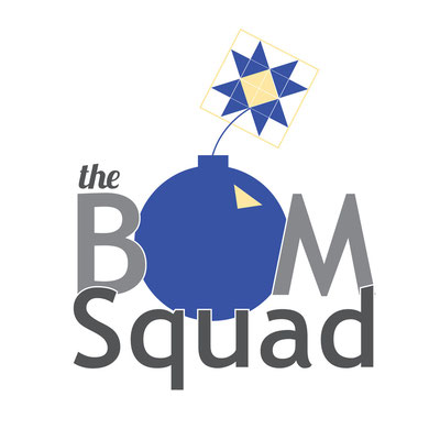 "Block of the Month ""BOM Squad"" logo design; June 2012"
