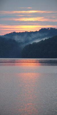Sunset over Lake Piedmont, Ohio: June 2013