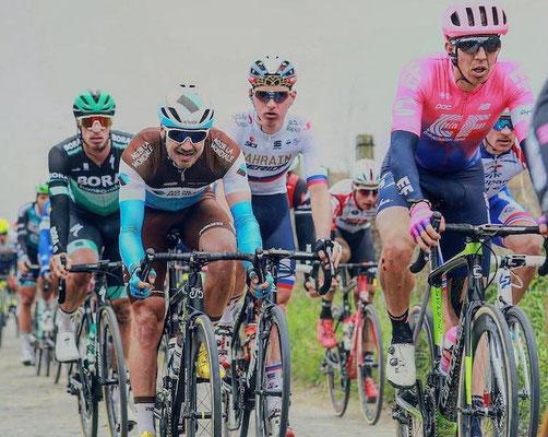 Sepp Vanmarcke, Alexis Gougeard, Matej Mohoric, Rüdiger Selig // Paris-Roubaix