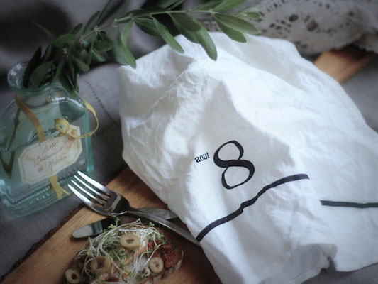リトアニア製 綿麻キッチンタオル マンスリー