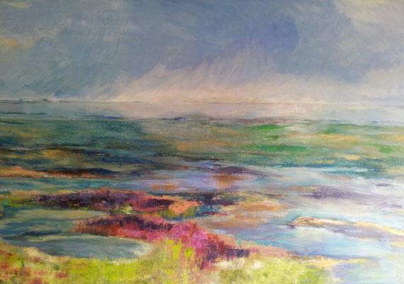 Oosterschelde landschap 115x75 olieverf op doek  verkocht