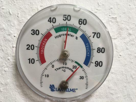 Raum 1 21°C werden gehalten