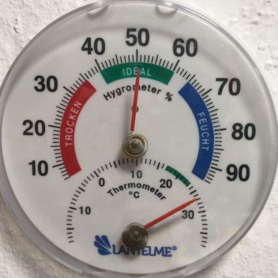 Raum 1 vor dem Betrieb des Klimagerätes