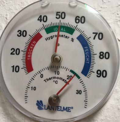 14.30 Uhr die 20°C sind erreicht.