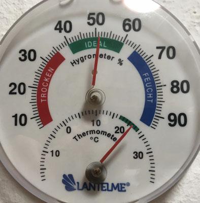 21°C stabil gehalten