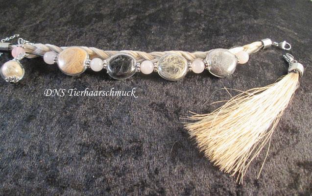 Armband aus Pferde- und Hundehaaren