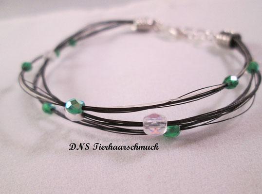 Armband aus Pferdehaar mit Perlen