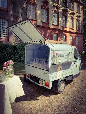 Secco Empfang Schlosshof Erbach