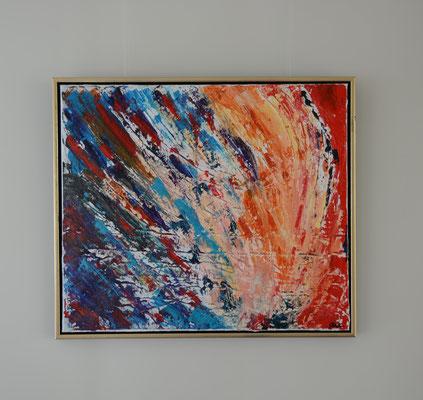 Titel: Giving, yet to receive. 60 x 70 cm Acryl op linnen. April 2020. Prijs € 670,-.