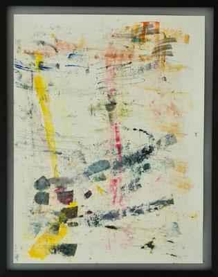 Titel: Turbulent dancing. 67 x 52 cm. Oil on paper. April 2021. Prijs € 400,-
