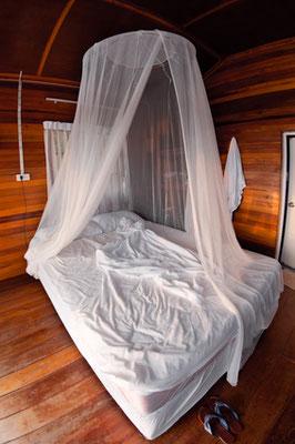 Im Schlaf schützen Sie sich am besten mit einem Moskitonetz.