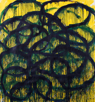 Soul Flower (green) 2014 / oil on canvas / 200x190 cm