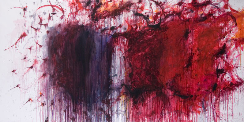 Psychic Space no.16. oil on canvas, 150x300cm, 2007