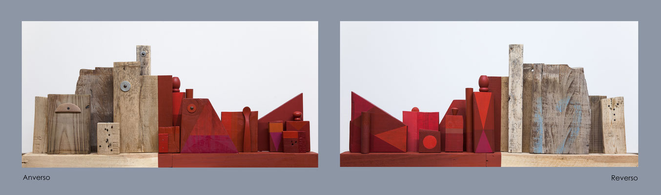 Composición nº 3  Madera, metal y acrílico ( 95 x 41 x 14,5 cm ) 2017