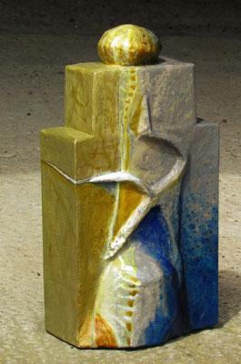 carton, papier maché - hauteur 33 cm
