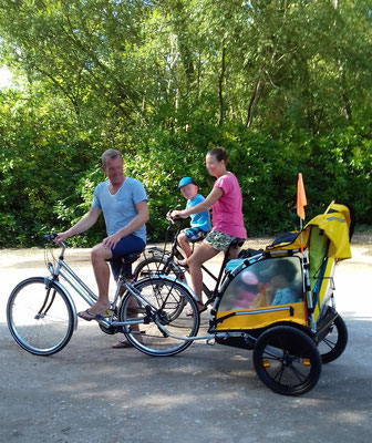 Vom Campingplatz Fougères mit dem Fahrrad