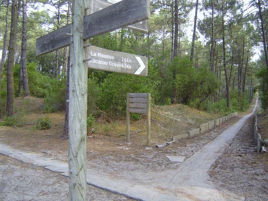 Radwege in Lacanau