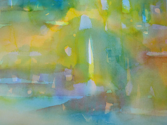 真砂秀朗: 絵と音展「みずけしき」