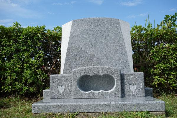 香川県産 庵治石細目黒口特級 横須賀市営墓地