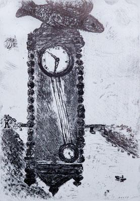 Marc Chagall, ets nr. K.079 'L'Horloge', 1928