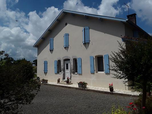 Façade de la maison - Gîte de Marcadé - Clermont - Landes Chalosse