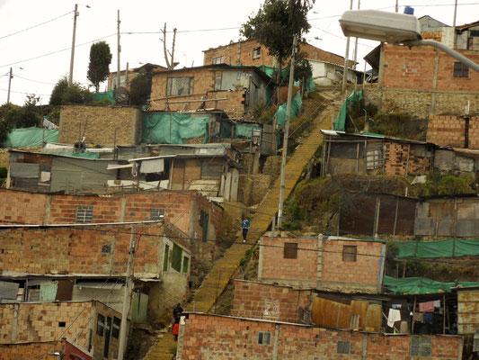 Périphérie Sud de Bogotá et sa pauvreté