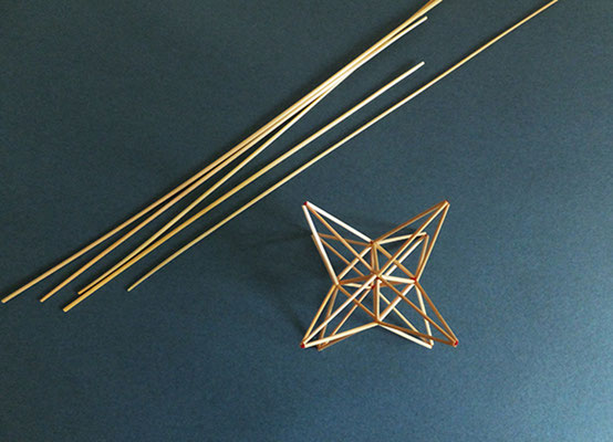 繊細な麦わらでつくる星型ヒンメリ