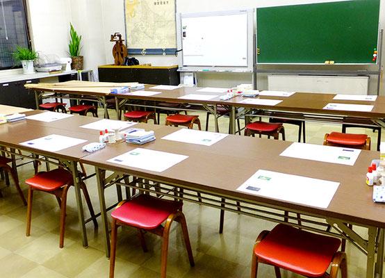 準備中のお教室