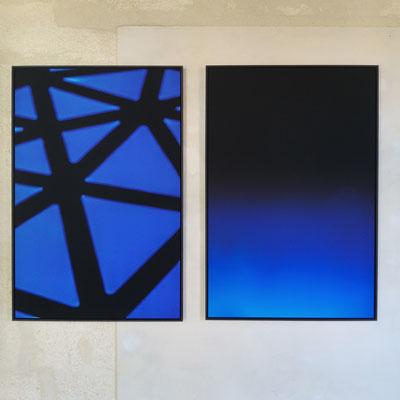 Electronica - Fusion ou les ombres perdues, 60x90 cm chacune, Parcours de l'Art, Avignon 2016.