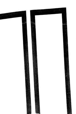 Structure noire sur fond blanc, 72X109 cm, 2014