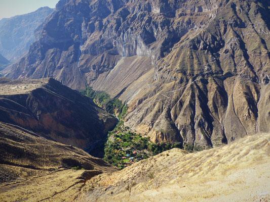 L'oasis de Sangalle, en plein milieu de la montagne asséchée