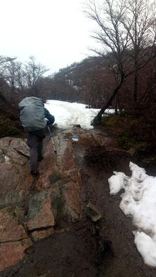 Ha, je crois bien qu'il va falloir marcher dans la neige à partir de maintenant !