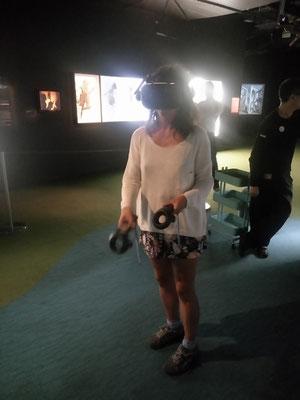 Je teste un jeu 3D, excellent! C'était ma première fois...