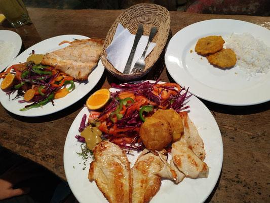Viande et poisson au four (en terre s'il vous plaît !), Miam !