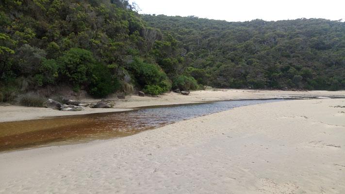 La rivière se jette dans la mer de la photo suivante