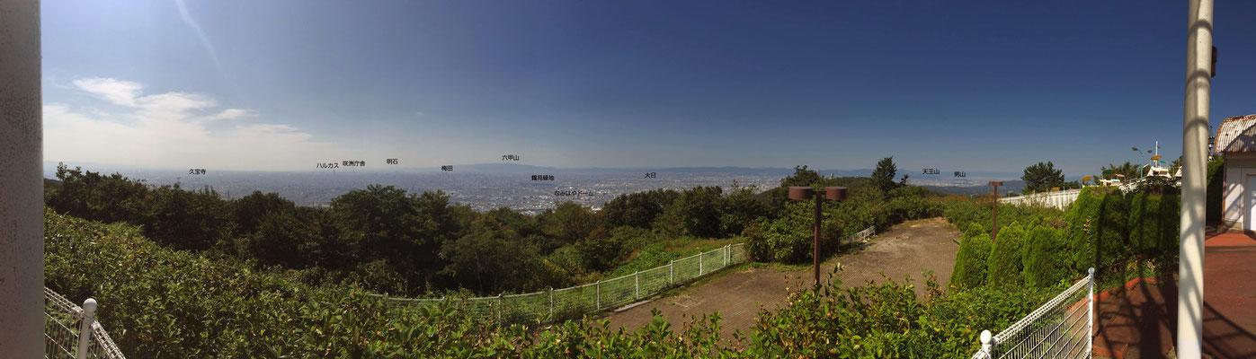 生駒山上遊園地からの眺望  ※画像クリックで拡大