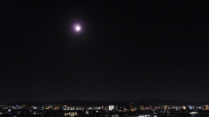 9/27(日)中秋の名月と生駒山