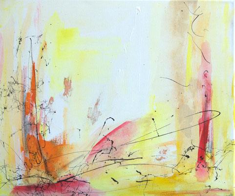 Sail away - Acryl auf Leinwand, 60x50 cm, 2015 - U. Schachner - VERKAUFT!