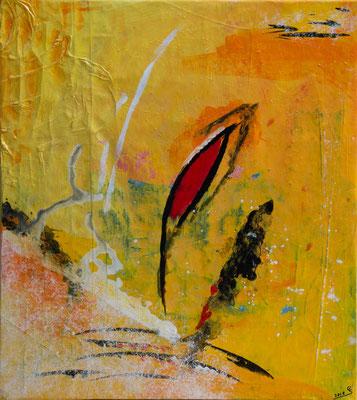Flame - Acryl auf Leinwand, 60x68 cm, 2018, Ursula Schachner