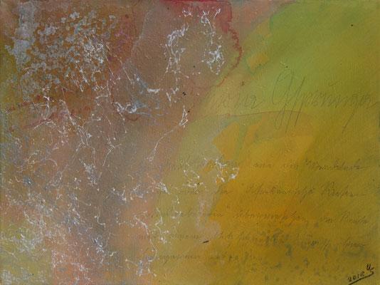 Ghupft wia Gsprunga - Acryl auf Leinwand, 40x30 cm, 2018, U. Schachner - VERKAUFT