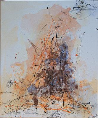 Funkenflug - Acryl auf Leinwand, 50x60 cm, 2018, Ursula Schachner - VERKAUFT