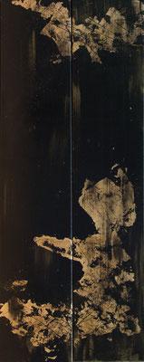 Goldrauch - Acryl auf Leinwand, 2x20x100 cm, 2017, U. Schachner - VERKAUFT!