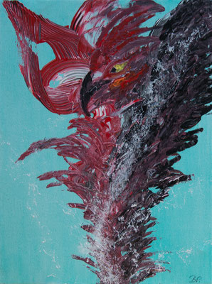 Der Blick - Acryl auf Leinwand, 34x45 cm, 2018, Perica Brodaric - VERKAUFT